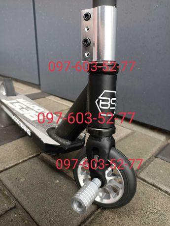 Трюковый самокат Best Scooter Чёрный + 2Пеги, система HIC, 110 мм