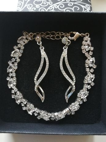 Biżuteria kolczyki + bransoletka