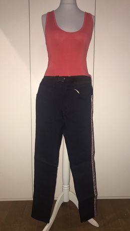 Spodnie Zara granatowe z lampasami rurki NOWE r.44 XL XXL