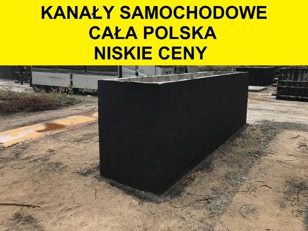 cała Polska kanały samochodowe betonowe garażowe kanał samochodowy
