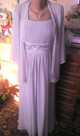 Обалденное нарядное платье с накидкой на свадьбу,торжество 50-52р