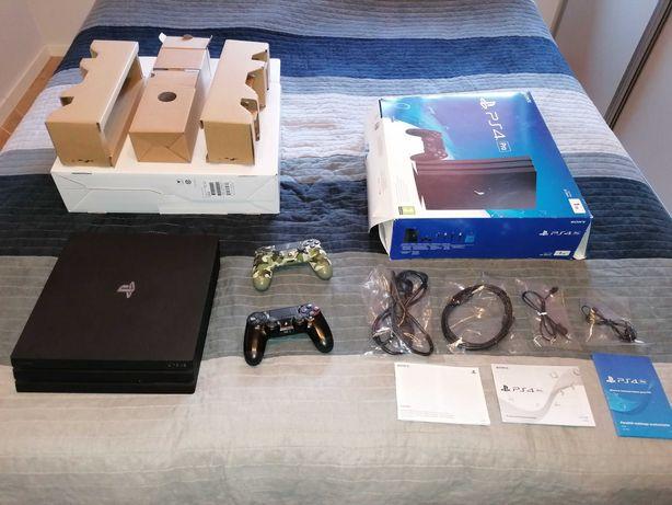 PS4 PRO 1TB + 2 pady + 6 gier