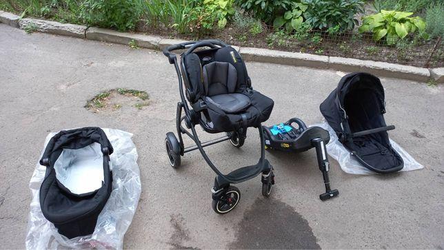Дитяча складна коляска Graco Evo Xt 3в1  автокрісло люлка прогулочна