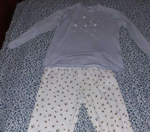 Pijama completo abelhinhas branco e azul Lefties S. Portes incluídos!