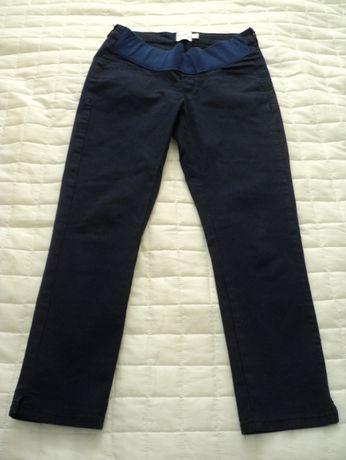 Spodnie ciążowe 7/8 r. S/36 Asos H&M Happy mum granatowe