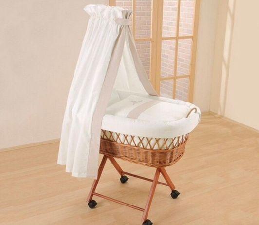 Дитяча люлька -ліжечко,плетена з натуральних матеріалів
