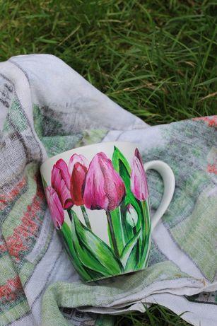 Чашка в подарок, чашка ручной работы, чашка на 8 марта, красивая чашка
