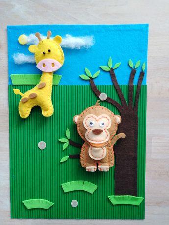 Quiet book, zabawka sensoryczna dla dzieci, maskotki