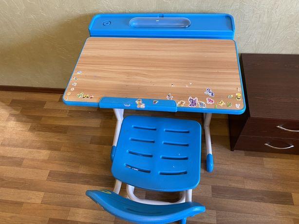 Продам парту и стул, растущие  с ребенком