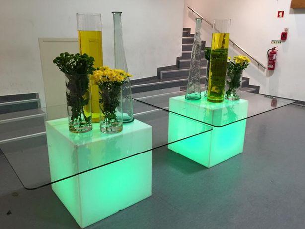 mesas com luz loja