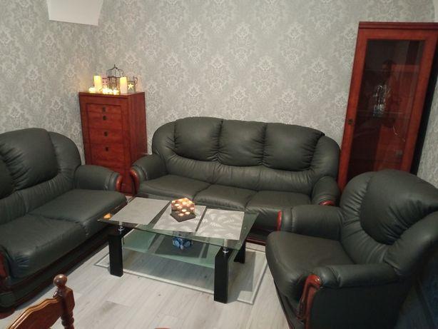 Sofa Kanapa Wypoczynek 3+2+1 Skórzany