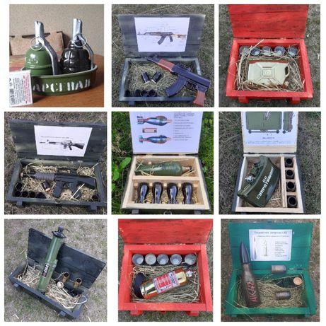 Подарок мужчине / военному / пожарному /штоф в ящике / боевой резерв