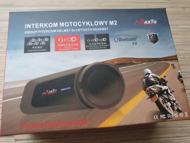 Interkom Motocyklowy MaxTo M2 Nowy Gwarancja Polska Dystrybucja