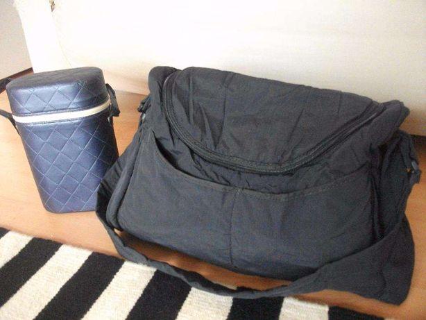 saco de bebé e porta biberões térmico