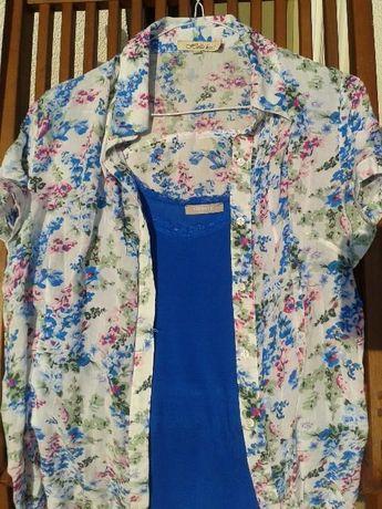 Bluzka 100% Cotton, rozm.XL+ turkusowy top