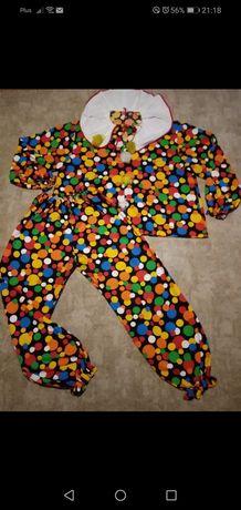 Kostium strój klauna. Urodziny kolorowy uniwersalny
