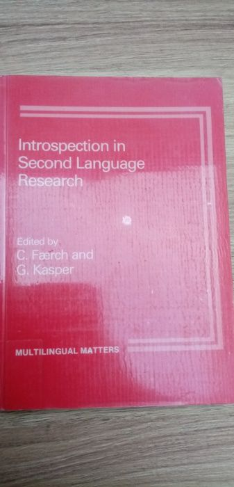 Introspection in Second Language Research Faerch and Kasper Tęgoborze - image 1