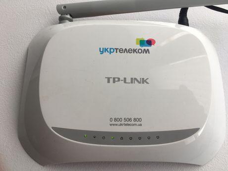 Роутер TP-LINK от Укртелекома, в комплекте блок питания 9 v и кабель.
