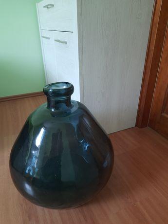 Duży  wazon z kolorowego szkła