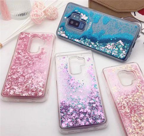 Чехол Glitter для Samsung Galaxy S8 S9 / + Plus бампер с блестками