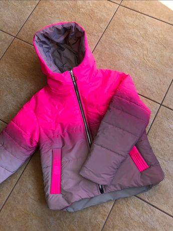 Светоотражающая куртка омбре 140;146;152;158 демисезонная,не промокает