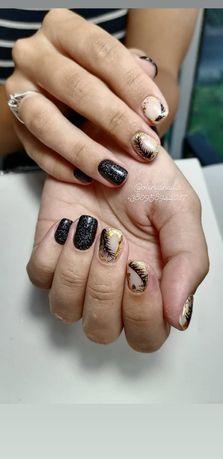 Манікюр педикюр нарощення нігтів брови