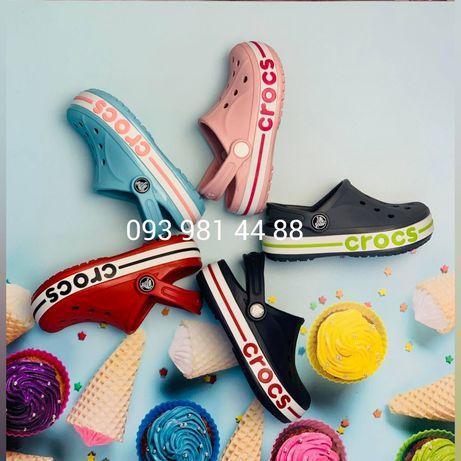 Детские Кроксы баябенд 25-34 размеры. Crocs Bayaband Kids. Crocband