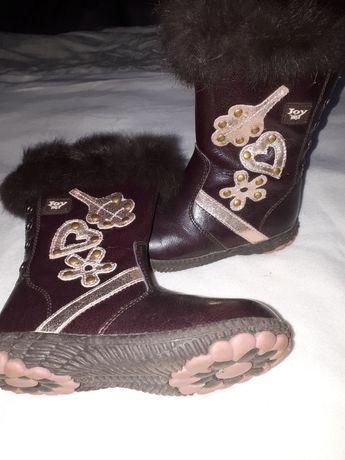 Шкіряні ботинки зимові для маленької принцеси