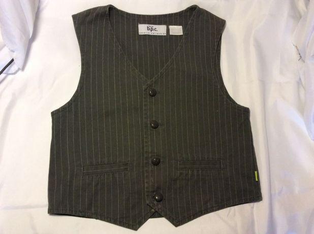 Стильный школьный костюм Рубашка+Жилет+Брюки 2-3 класс