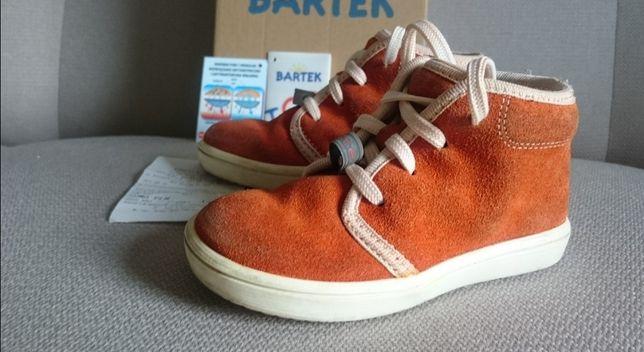Buty trzewiki profilaktyczne  Bartek 23 pomarańczowe zamszowe