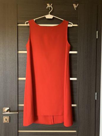 Czerwona sukienka No name linia A rozm M