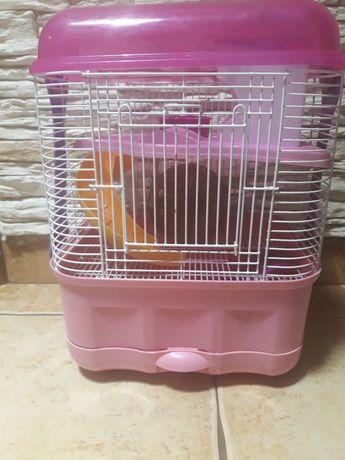Klatka transporter w jednym dla chomika lub myszki