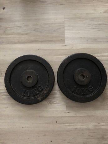 Obciązenie żeliwne 20kg 2x10kg hantle talerze siłownia polecam tanio
