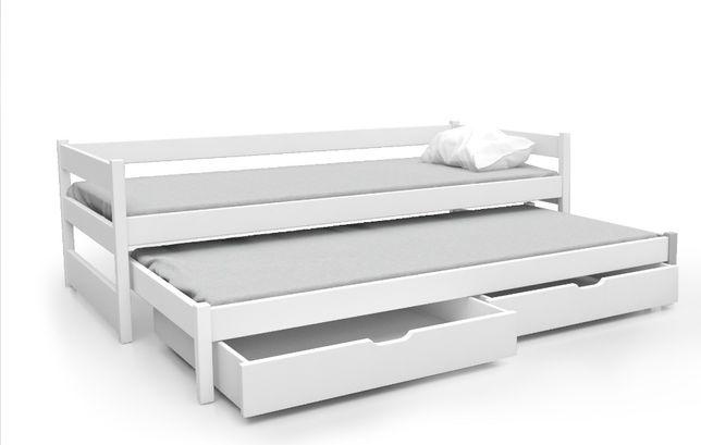 Łóżko 2-poziomowe TOMI z szufladami + materace GRATIS !