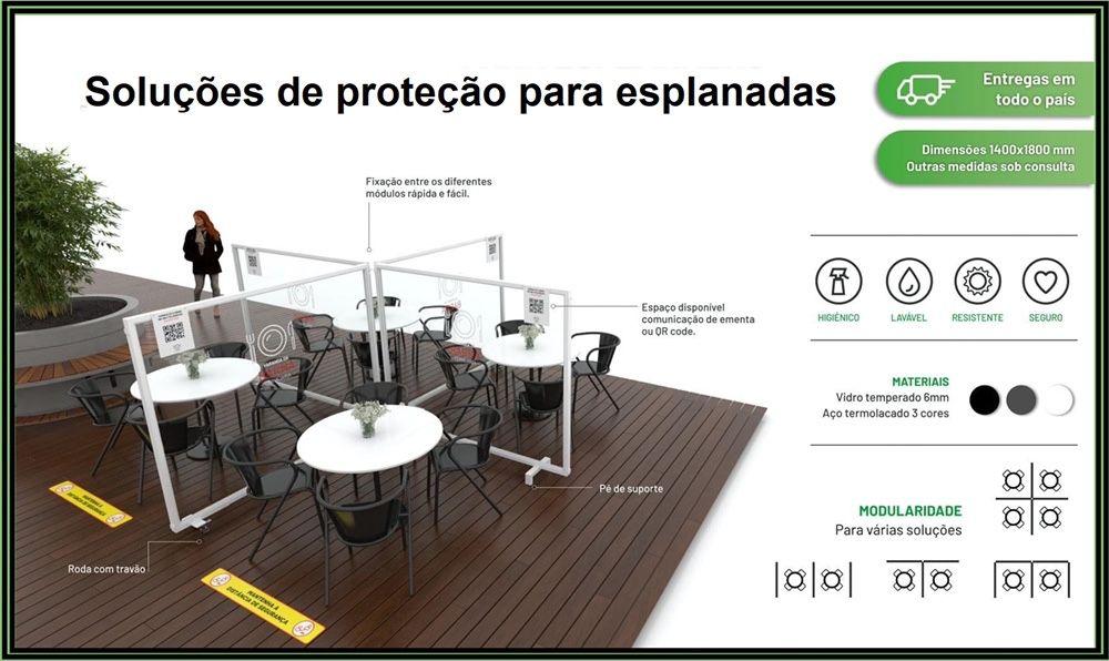 Divisorias de proteção - Covid 19 Lustosa E Barrosas (Santo Estêvão) - imagem 1