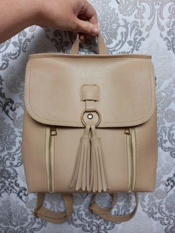 Рюкзак женский сумка бежевый нюд