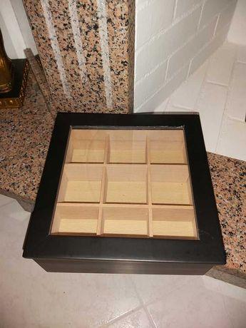 Caixa para chá de madeira NOVA