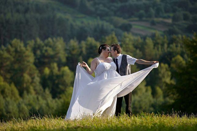 Suknia ślubna duza