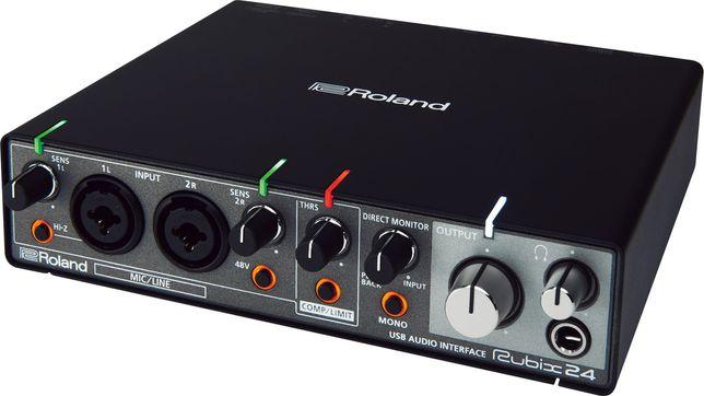 Interface audio USB Roland Rubix 24, em estado novo