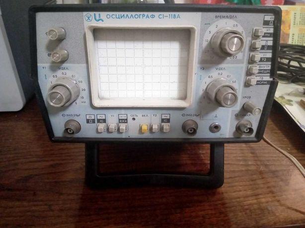 Продам осциллограф двухканальный С1-118А