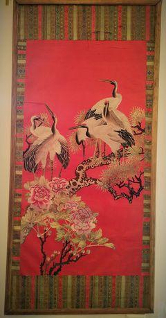 Антикварное китайское панно шелкография