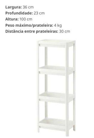 Estante casa de banho IKEA