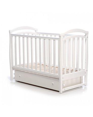 Детская кроватка ВЕРЕС Соня ЛД-6 с комодом, матрасом и маятником