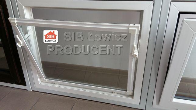 Okno Inwentarskie PCV - 900[mm] / 900[mm] kolor biały