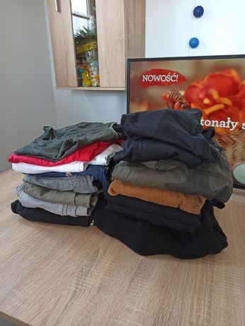 Zestaw paka meskich ubrań ciuchów 13 sztuk spodnie kurtka koszulki
