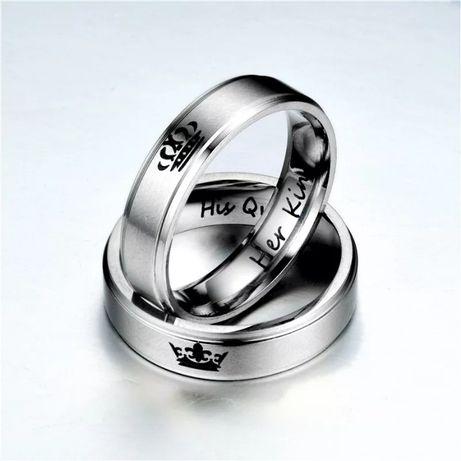 Парные Титановые кольца для влюбленных Король/королева Обручальные!