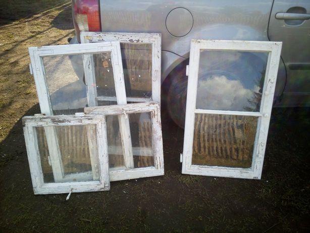 Okna stare na ramki, drewniane, renowacja duża ilość