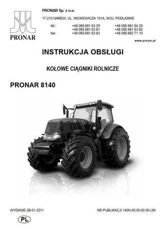 Instrukcja obsługi ciągnika Pronar 8140
