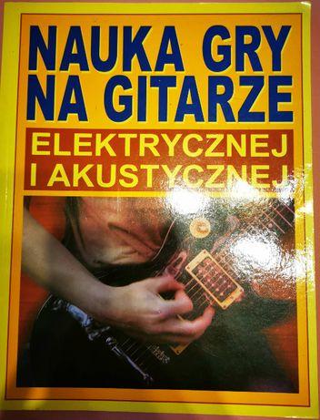 Nauka gry na gitarze elektrycznej i akustycznej.