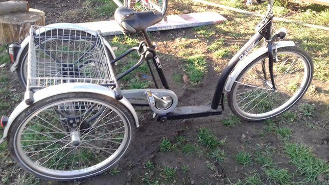 Rower 3 kołowy dostosowany dla niepełnosprawnych